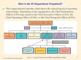 Information System Department Organizational Chart Chapter 11 Information Systems Management Ppt Download