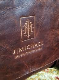 embossing leather at the national retail federation show