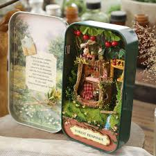 handmade doll house diy miniature wooden puzzle dollhouse miniatura furniture house doll birthday gift toys box cheap doll houses with furniture