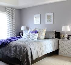 relaxing bedroom colors. Fabulous Soft Grey Wall Color With Geometric Printed Curtain For Relaxing Bedroom Ideas Colors E