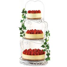 Cheesecake Display Stands White Chocolate Cheesecakes Wilton 36