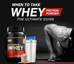 when to take whey protein powder the