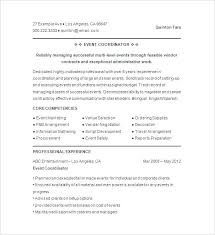 events manager resume sample events coordinator resume example event  marketing manager resume sample