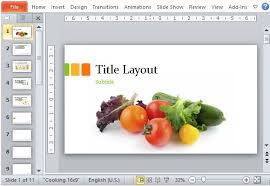 Food Presentation Template Food Presentation Template For Powerpoint