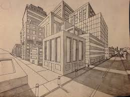 perspective drawings of buildings. 2-point Perspective Buildings Drawings Of