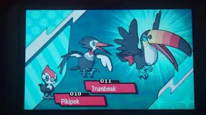 Trumbeak Evolution Chart Pokemon Moon Trumbeak Evolving Into Toucannon Youtube