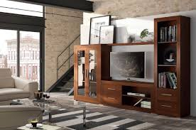 View Larger Gallery Gruposeys Basicos living room composition with TV unit, shelving  unit and display cabinet in toasted