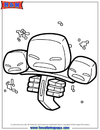 Minecraft Coloring Pages Wither Murderthestout