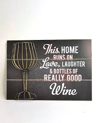plaque verse sign wine large quirky black plaque with metal wine glass cork holder