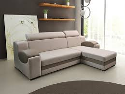 modern sofa bed. Living Room, Beautiful Modern Sofa Bed Corner Design Light Gray Color Woven Fabric And Faux