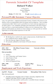 Forensic Scientist Cv Template Tips And Download Cv Plaza