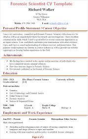 forensic-scientist-cv