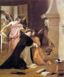thomas aquinas  diego velazquez thomas is girded by angels a mystical belt of purity after his proof of chastity