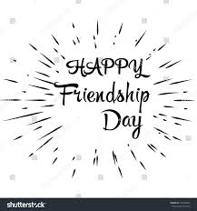 Happy Friendship Day Vector Typographic Colorful Stock Vector