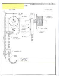 garage door chain hoist jr jackshaft
