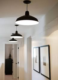 love the clean simplicity warehouse barn pendant lighting and set of thin black framed
