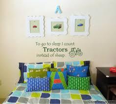 Tractor Themed Bedroom Custom Decoration