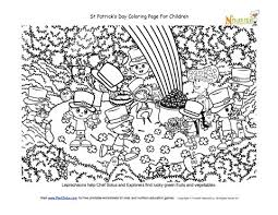 St Patricks Day Coloring Lucky Forest Coloring Page St Patricks Day Theme