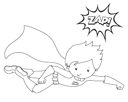 Small Picture Superhero Coloring Pages Crazy Little Projects