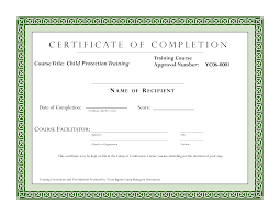 Course Completion Certificate Format Course Completion Certificate Template Certificate of Training 1