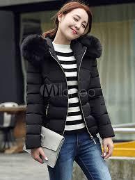 Women'S Puffer Jacket Faux Fur Hooded Short Quilted Coat For ... & ... Women'S Puffer Jacket Faux Fur Hooded Short Quilted Coat For ... Adamdwight.com