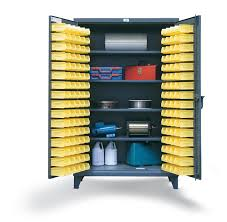 Storage Bin Cabinet Strong Hold Products Bin Storage Cabinet With Shelves