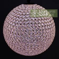 designer crystal stainless steel chandelier 14 inch round sphere bejeweled