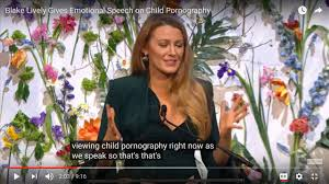 Blake Lively Gives Emotional Speech on Child Pornography But What.