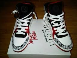gucci jordans. some very limited edition gucci icon temporary new york sneakers aka \u201cthe jordan\u0027s\u201d (about $800). i know the designer sneaker game like back of my jordans