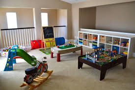decoration: Gorgeous Boys Playroom Ideas In Colorful Nuance Installed On  Cool Grey Flooring And Enhanced