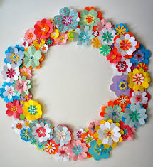 Diy Paper Flower Wreath Spring Is Natures Way Of Saying Lets Party This Wreath Is Inspired