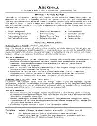 Sample Resume Of Information Technology Manager New It Manager