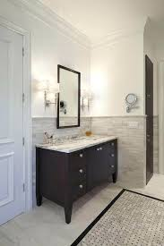 half wall ideas accent for small bathroom tile popular tiled traditional in