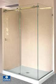 frameless sliding glass shower doors by pass oasis