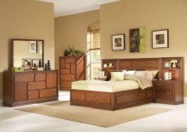 wooden bed furniture design. modern brown wood bedroom furniture set with extra storage of interior design beige wooden bed