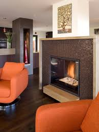 example of a trendy living room design in san francisco with a tile fireplace
