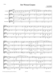 ave verum corpus sheet music mozart ave verum corpus clarinet quartet alry publications llc