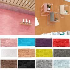 diy 3d brick pe foam wall decor panels