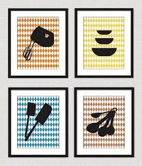 image wall decorations kitchen: modern retro kitchen wall art prints
