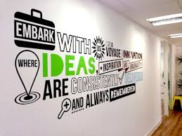 office wall decal. Office Typography Wall Decal