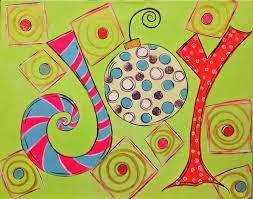 joy acrylics on canvas holiday winter starving artist studio