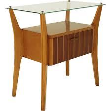 italian glass furniture. Italian Glass Top Bedside Table \ Furniture