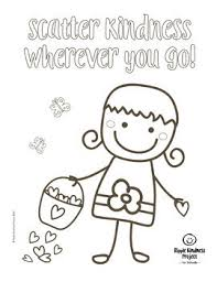 Kindness Coloring Pages For Building Character Us Letter Format