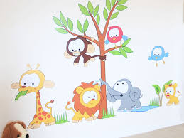Small Picture wall Kids Room Ideas Forest Friends Murals Amazing Design