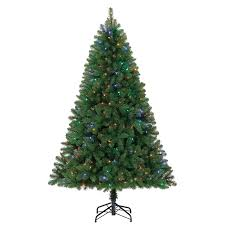 Holiday Living 6.5-ft Pre-lit Seneca Pine Artificial Christmas Tree with  250 Color