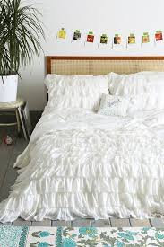 decoration best white ruffle duvet cover images on ruched impressive