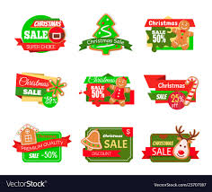 Christmas Tree Labels Christmas Sale Labels Pine Tree Gingerbread Cookie