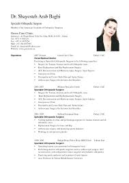 nursing cv word format sample format of curriculum vitae for nursing cv word format
