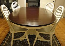 E Two Tone Dining Room Tables Of Worthy Diy Table Makeover  Throughout Dining Room Table Makeover Ideas For Your Own Home