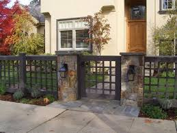 fence gate design. Modren Gate Black Iron Fence Gate Design With Stone Walkway For Luxury Home Ideas  Beige Exterior To N